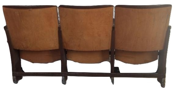 Sedie da cinema 3 sedute - Vetrina Vintage